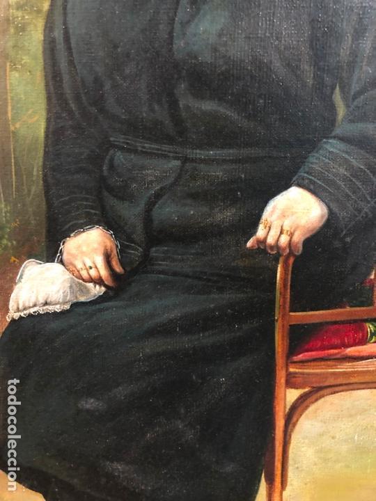 Arte: MAGNIFICO OLEO SOBRE LIENZO RETRATO POR EL PINTOR GADITANO R. DEL CASTILLO Y MARTINEZ - CADIZ 1924 - Foto 8 - 167530292