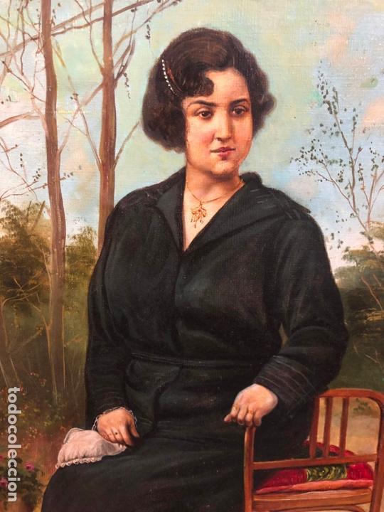 Arte: MAGNIFICO OLEO SOBRE LIENZO RETRATO POR EL PINTOR GADITANO R. DEL CASTILLO Y MARTINEZ - CADIZ 1924 - Foto 9 - 167530292