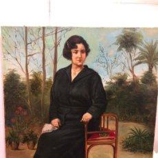 Arte: MAGNIFICO OLEO SOBRE LIENZO RETRATO POR EL PINTOR GADITANO R. DEL CASTILLO Y MARTINEZ - CADIZ 1924. Lote 167530292