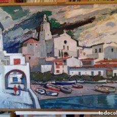 Arte: RAIMON ROCA RICART, // CADAQUÉS // OLEO ACRILICO,. Lote 167531344