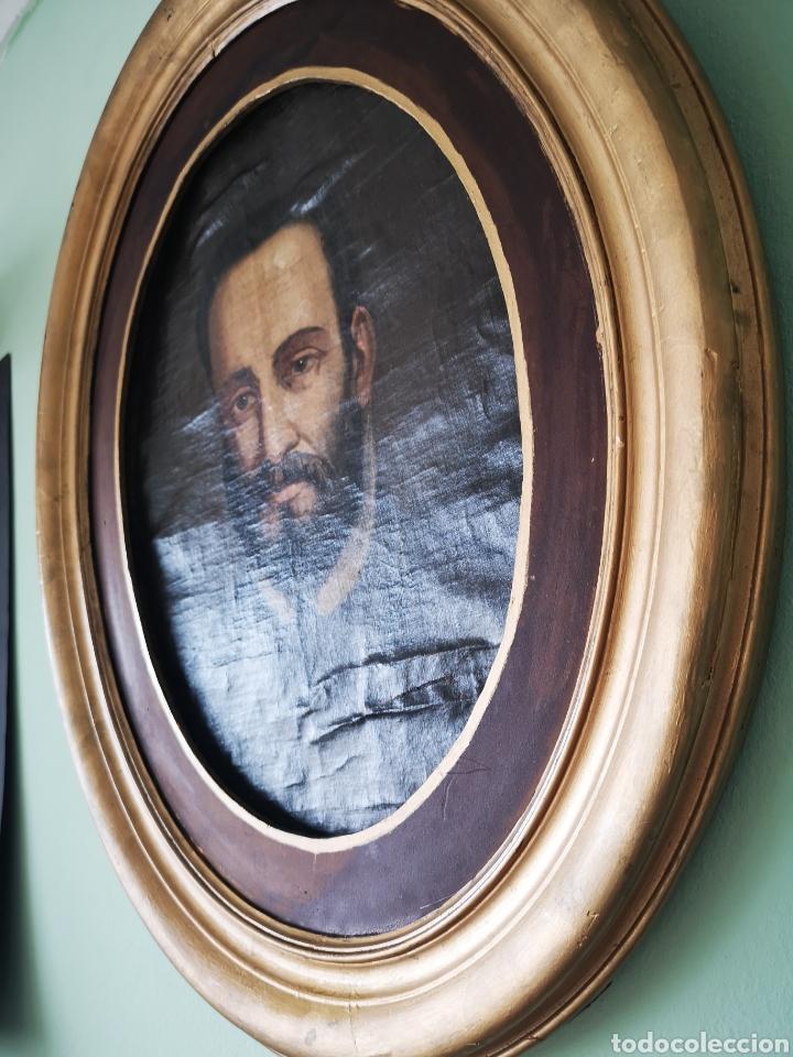 Arte: ANTIGUO RETRATO, OLEO SOBRE LIENZO, OVALADO. FINALES XVIII-PRINCIPIOS S.XIX - Foto 3 - 58655643