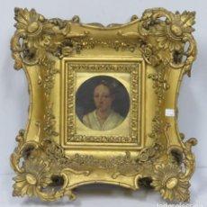 Arte: MINIATURA RETRATO DE DAMA CON COLLAR. OLEO S/ COBRE. SIGLO XVIII. Lote 167550272