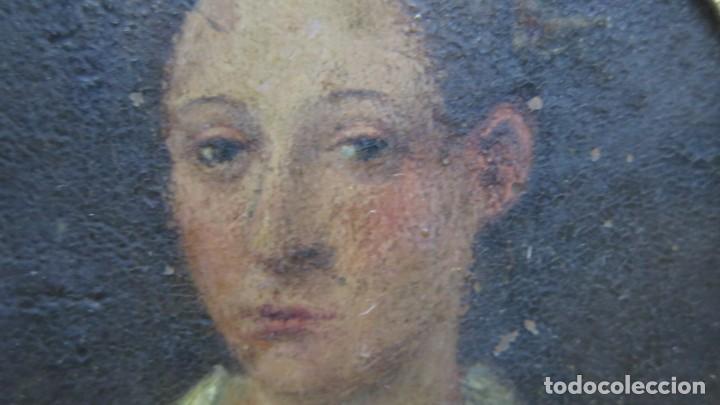 Arte: MINIATURA RETRATO DE DAMA CON COLLAR. OLEO S/ COBRE. SIGLO XVIII - Foto 3 - 167550272