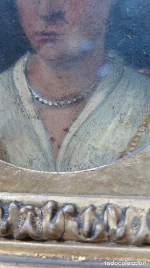 Arte: MINIATURA RETRATO DE DAMA CON COLLAR. OLEO S/ COBRE. SIGLO XVIII - Foto 5 - 167550272