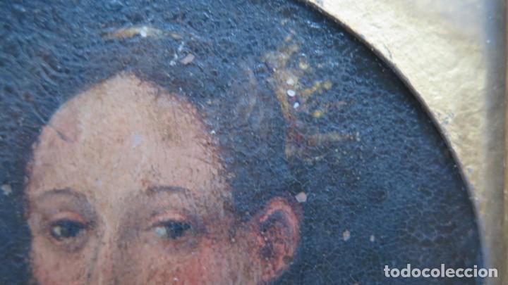 Arte: MINIATURA RETRATO DE DAMA CON COLLAR. OLEO S/ COBRE. SIGLO XVIII - Foto 11 - 167550272