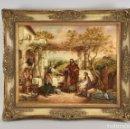 Arte: ÓLEO SOBRE TABLA DE ESCENA RELIGIOSA MARCO DE GRAN CALIDAD. Lote 167558112