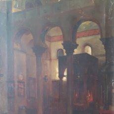 Arte: RENÉ JANSSENS (BÉLGICA, 1870-1936) - INTERIOR CATEDRAL DE VENECIA.FIRMADO.TITULADO.1896.. Lote 167584310