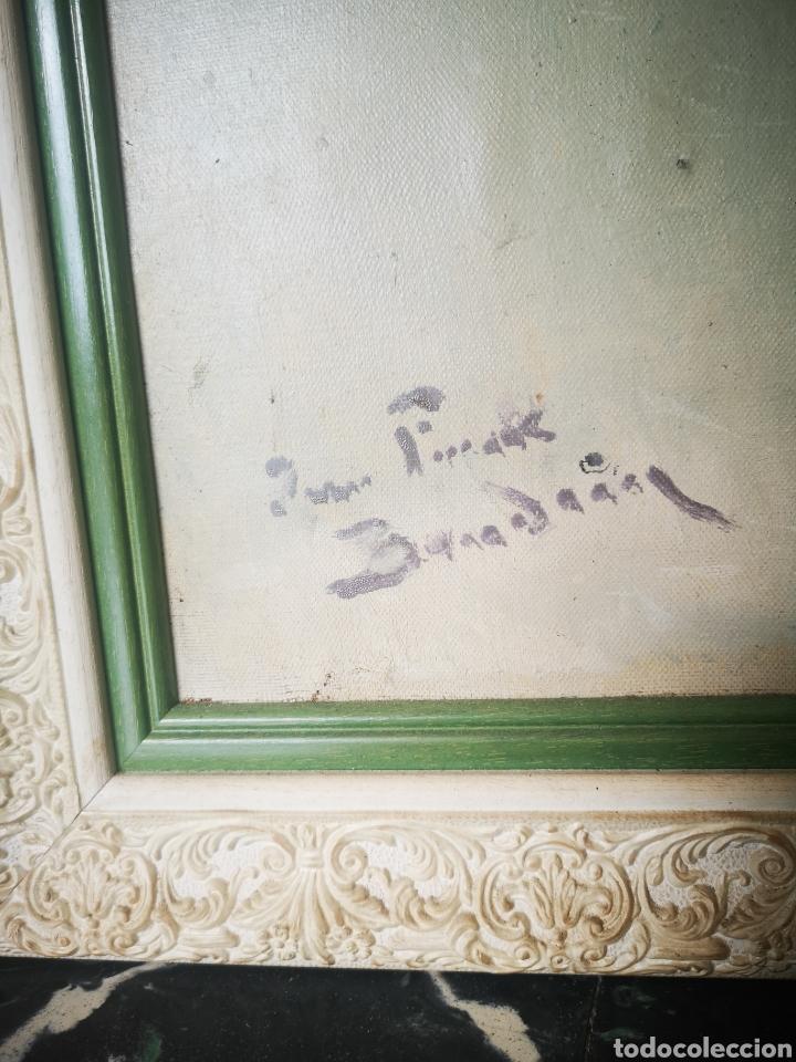 Arte: Oleo sobre lienzo, florero, escuela francesa, firmado, Medidas totales 66x77cm - Foto 2 - 167599905