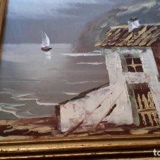 Arte: ÓLEO SOBRE TABLA. PAISAJE COSTERO. Lote 167616048