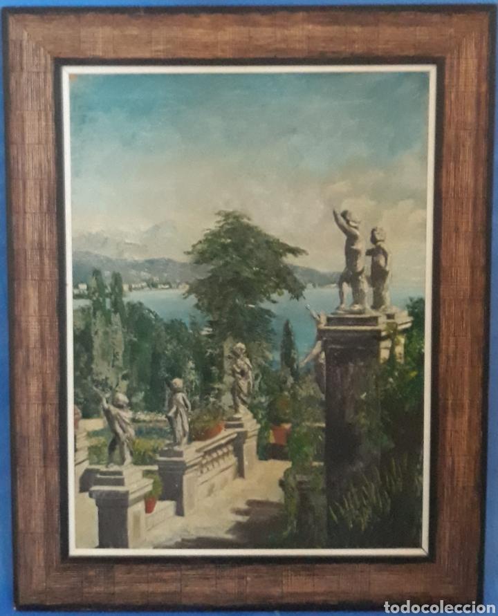ÓLEO SOBRE TABLA PATIO ROMANO (Arte - Pintura - Pintura al Óleo Contemporánea )