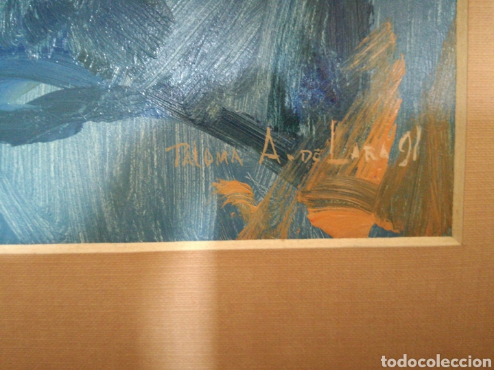 Arte: OLEO SOBRE TABLA DE LA ARTISTA PALOMA A.DE LARA - Foto 3 - 167677961