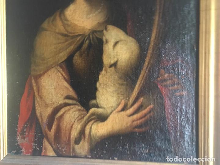 Arte: ESCUELA BARROCA SEVILLANA DE BARTOLOMÉ ESTEBAN MURILLO: SANTA INÉS - Foto 3 - 167678504