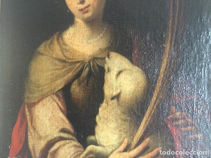 Arte: ESCUELA BARROCA SEVILLANA DE BARTOLOMÉ ESTEBAN MURILLO: SANTA INÉS - Foto 7 - 167678504