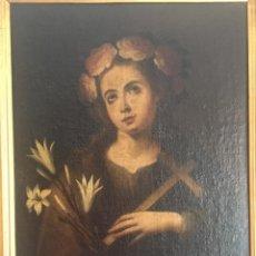 Arte: ESCUELA BARROCA SEVILLANA DE BARTOLOMÉ ESTEBAN MURILLO: SANTA ROSALÍA. Lote 167679288