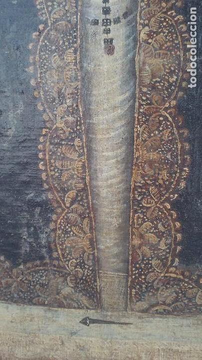 Arte: pintura al oleo colonial siglo xviii,de epoca,oleo sobre lienzo,monja ,santa - Foto 6 - 167733568