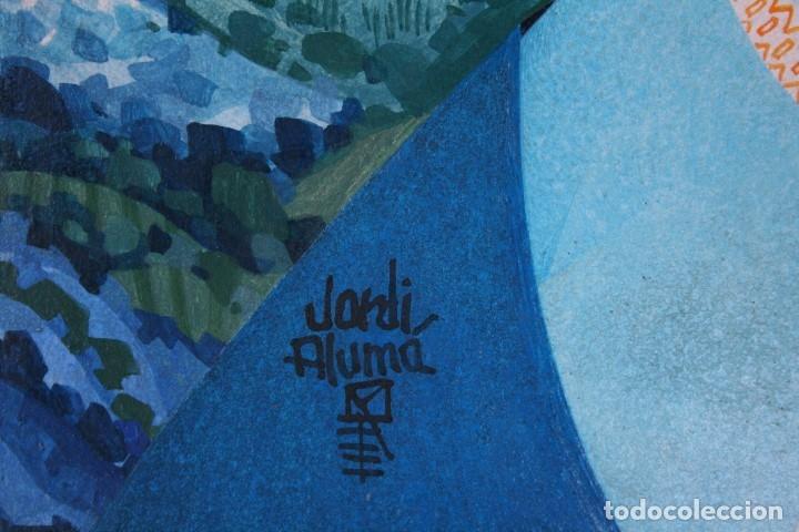Arte: Jordi Alumà i Masvidal (Barcelona, 26 de febrer de 1924) - PINTURA TEMPERA SOBRE TABLA . - Foto 6 - 167736644