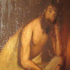 Arte - ESCEOMO OLEO LIENZO EN TABLA RELIGIOSO CRISTO PINTURA ANTIGUA SIGLO XVIII XVII - 165676126