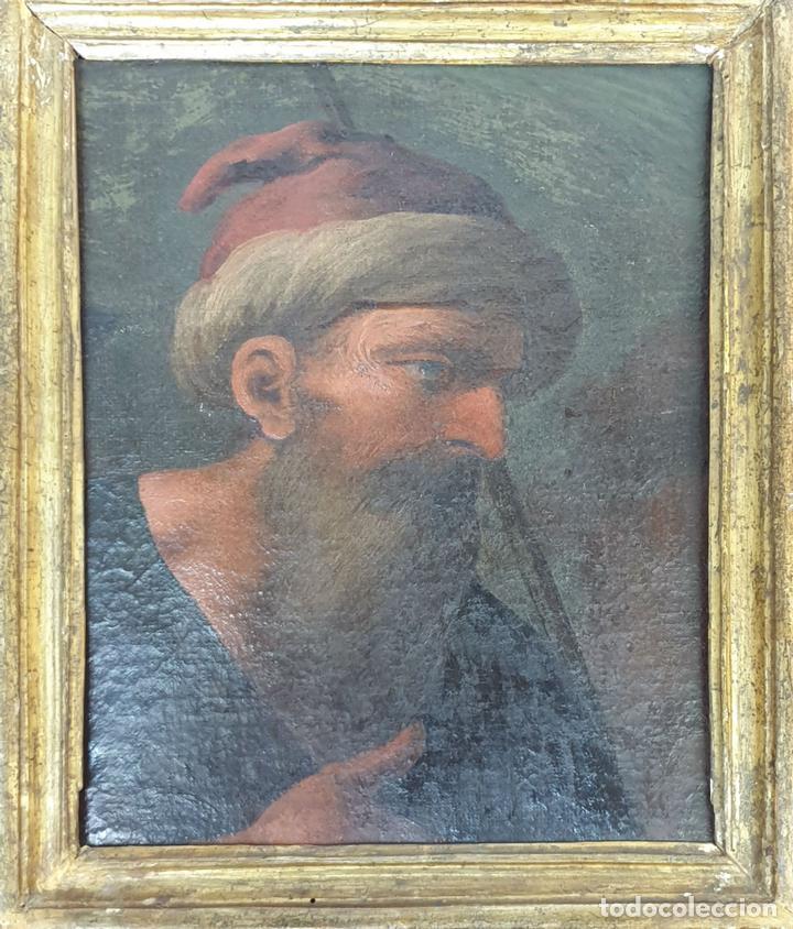RETRATO DE HOMBRE. ÓLEO SOBRE LIENZO. SIN FIRMAR. SIGLO XVIII-XIX. (Arte - Pintura - Pintura al Óleo Antigua siglo XVIII)