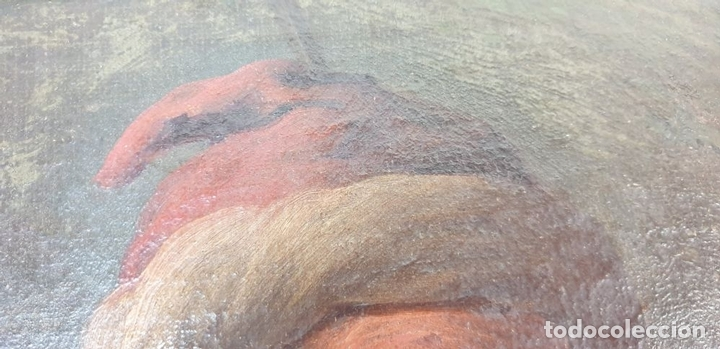Arte: RETRATO DE HOMBRE. ÓLEO SOBRE LIENZO. SIN FIRMAR. SIGLO XVIII-XIX. - Foto 3 - 167779932