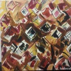 Arte: ORIGINAL ÓLEO SOBRE LIENZO ABSTRACTO LIENZO 63X66. Lote 167798476
