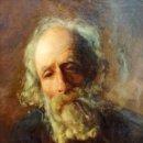 Arte: RETRATO DE HOMBRE. ÓLEO SOBRE LIENZO. FIRMADO (S?) COLL BACARDI. ESPAÑA. 1901. Lote 167805792
