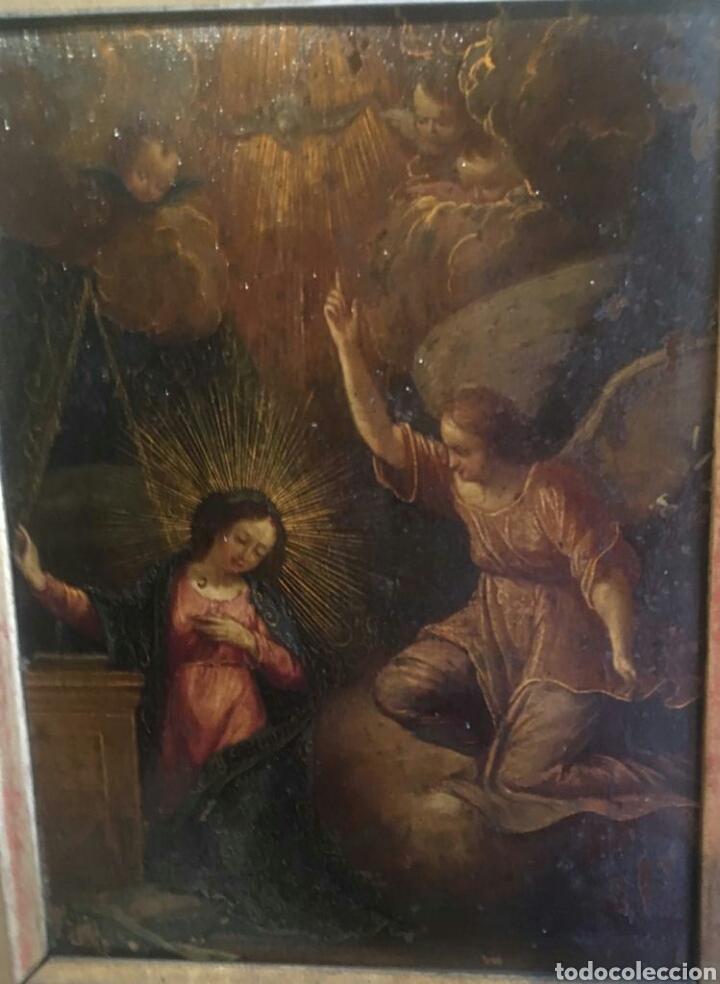 ESCUELA ITALIANA SIGLO XVII: ANUNCIACION (Arte - Pintura - Pintura al Óleo Antigua siglo XVII)