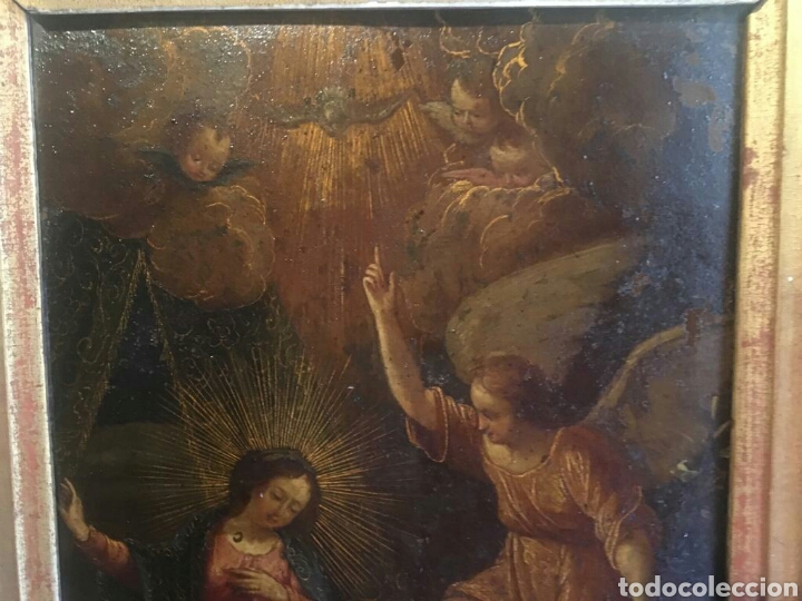 Arte: ESCUELA ITALIANA SIGLO XVII: ANUNCIACION - Foto 3 - 167990828