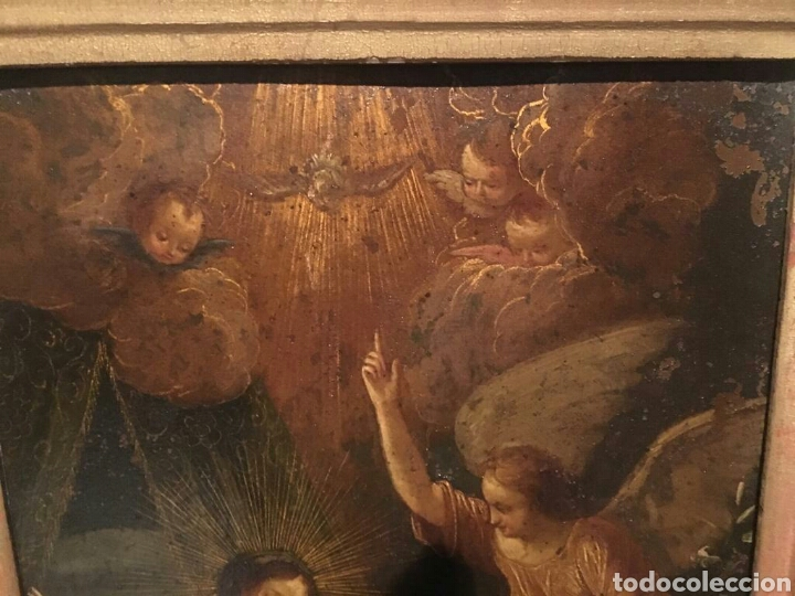 Arte: ESCUELA ITALIANA SIGLO XVII: ANUNCIACION - Foto 9 - 167990828