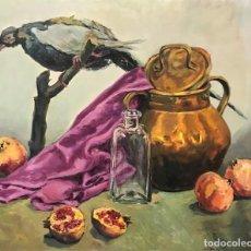 Arte: NATURALEZA MUERTA CON AVE, FIRMADO GIL SOLER. Lote 167992376