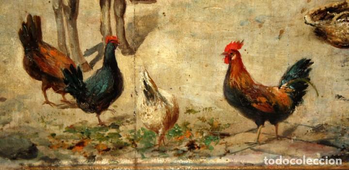 Arte: FIRMADO M.CASTRO. OLEO SOBRE TABLA FECHADO EN SEVILLA. FINALES SIGLO XIX. ESCENA COSTUMBRISTA - Foto 6 - 168031520