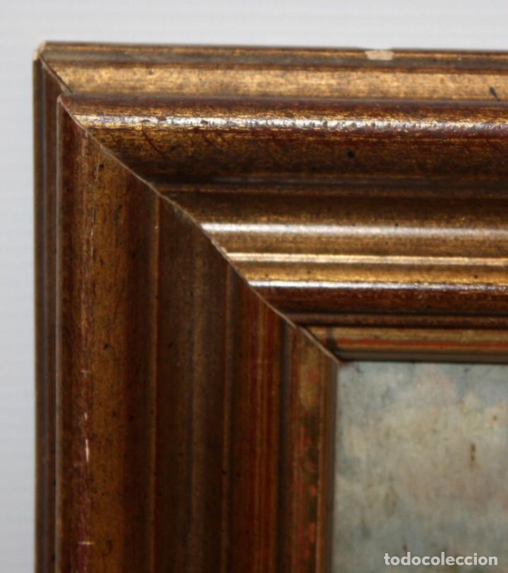 Arte: FIRMADO M.CASTRO. OLEO SOBRE TABLA FECHADO EN SEVILLA. FINALES SIGLO XIX. ESCENA COSTUMBRISTA - Foto 9 - 168031520