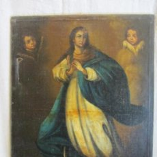 Arte: OLEO SOBRE LIENZO VIRGEN PURISIMA INMACULADA CONCEPCION SIGLO XVIII. Lote 168042520
