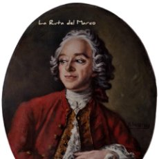 Arte: B. PAR. NATTIER CUADRO DE ÓLEO - INTERPRETACIÓN DEL RETRATO DE PIERRE-AGUSTIN CARON DE BEAUMARCHAIS. Lote 168096768
