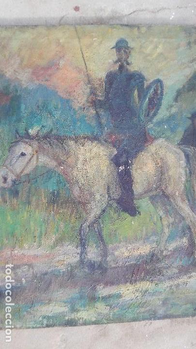 PINTURA AL OLEO DE CORTE IMPRESIONISTA,TEMA DEL QUIJOTE (Arte - Pintura - Pintura al Óleo Moderna sin fecha definida)