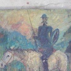 Arte: PINTURA AL OLEO DE CORTE IMPRESIONISTA,TEMA DEL QUIJOTE. Lote 168109528