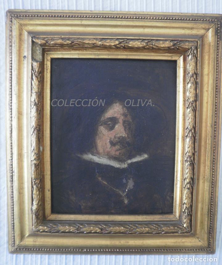 RETRATO (Arte - Pintura - Pintura al Óleo Antigua siglo XVII)