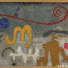Arte: COMPOSICION ABSTRACTA. ÓLEO SOBRE TABLA. FIRMADO CARLES JOAN. 1991. . Lote 168183572