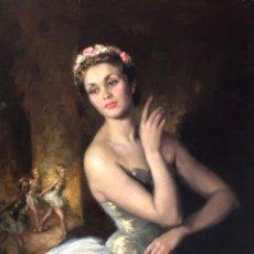 Arte: FRANCISCO RIBERA GOMEZ (MADRID, 1907-MÁLAGA, 1990) - RITMO DE BALLET 1954 - ÓLEO. Lote 168196848