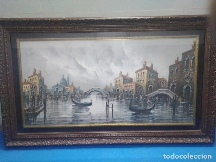 ÓLEO SOBRE LIENZO SIGLO XIX (60*1,20)VENECIA, ANÓNIMO (Arte - Pintura - Pintura al Óleo Antigua sin fecha definida)