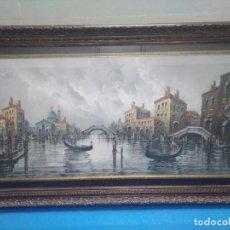 Arte: ÓLEO SOBRE LIENZO SIGLO XIX (60*1,20)VENECIA, ANÓNIMO. Lote 168199348