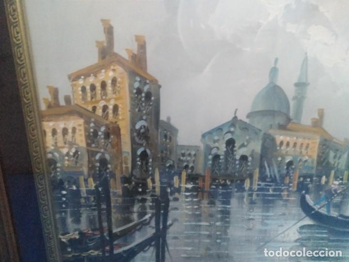 Arte: Óleo sobre lienzo Siglo XIX (60*1,20)Venecia, Anónimo - Foto 2 - 168199348