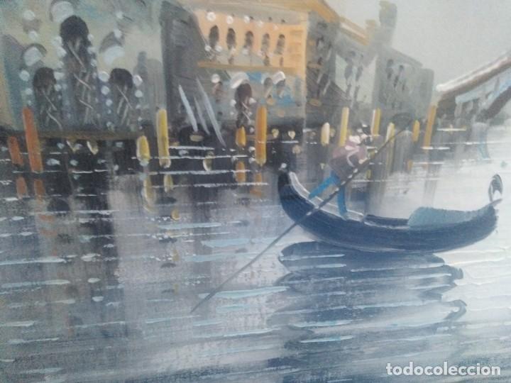 Arte: Óleo sobre lienzo Siglo XIX (60*1,20)Venecia, Anónimo - Foto 3 - 168199348