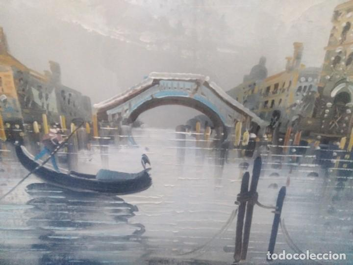 Arte: Óleo sobre lienzo Siglo XIX (60*1,20)Venecia, Anónimo - Foto 4 - 168199348
