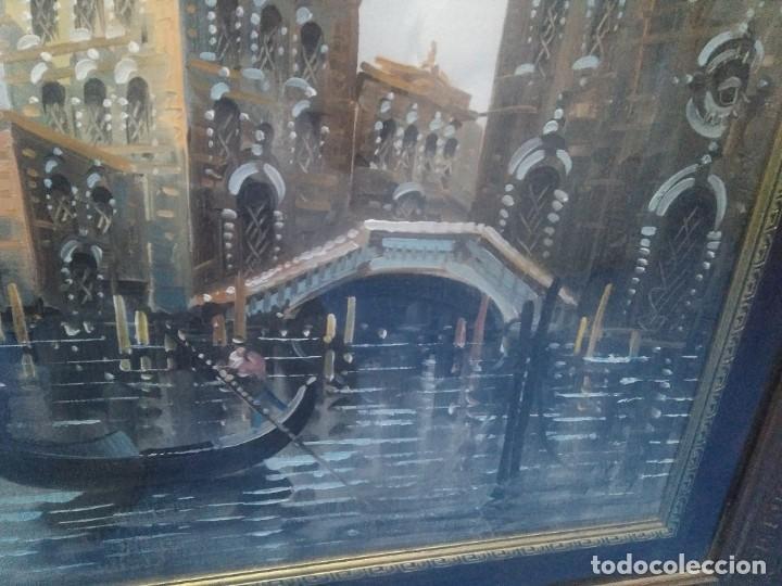 Arte: Óleo sobre lienzo Siglo XIX (60*1,20)Venecia, Anónimo - Foto 5 - 168199348