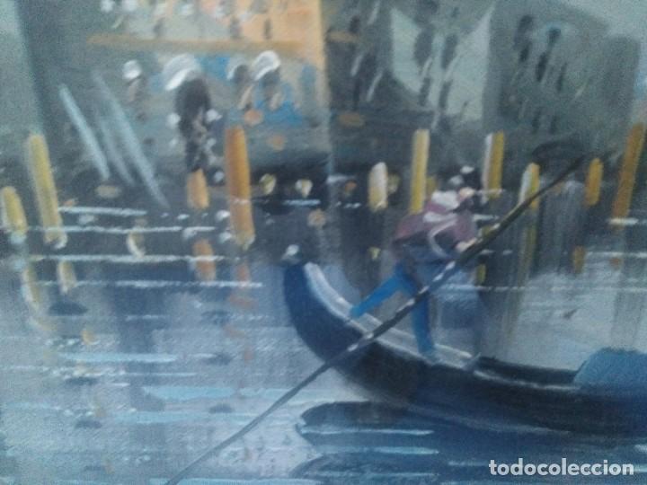 Arte: Óleo sobre lienzo Siglo XIX (60*1,20)Venecia, Anónimo - Foto 6 - 168199348