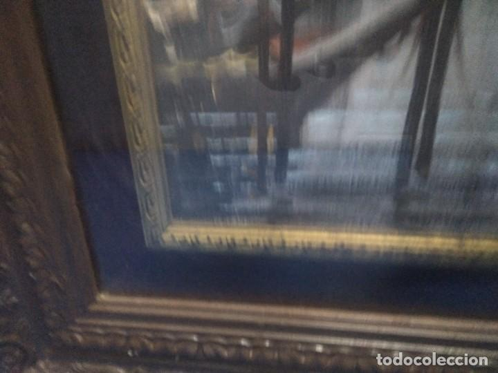 Arte: Óleo sobre lienzo Siglo XIX (60*1,20)Venecia, Anónimo - Foto 7 - 168199348