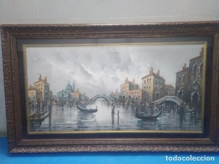 Arte: Óleo sobre lienzo Siglo XIX (60*1,20)Venecia, Anónimo - Foto 8 - 168199348