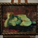 Arte: HILMO VIRMA (1915-1989) - FEMME COUCHÉ SUR UN TAPIS PERSAN. Lote 168227524