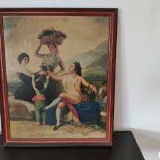 Arte: ANTIGUA COPIA DEL CUADRO LA VENDIMIA DE GOYA. Lote 168322508