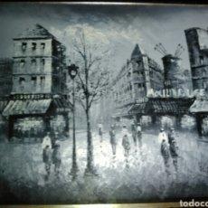 Arte: ÓLEO ESCENA PARISINA.. Lote 168331712